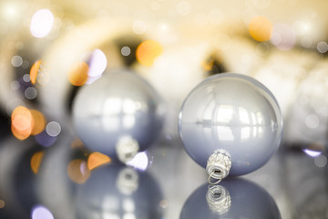 Christmas tree ornaments and balls