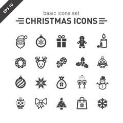 Christmas icons set.