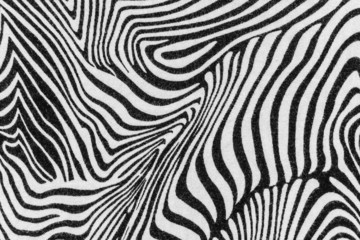 texture of print fabric stripes zebra