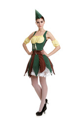 Beautiful girl dressed as an elf. A fabulous hero