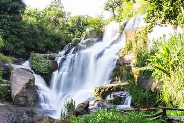 Mae Klang Waterfall in Chiang Mai Province, Doi Inthanon Thailan