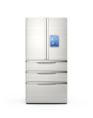 Smart refrigerator with monitor which can check item information
