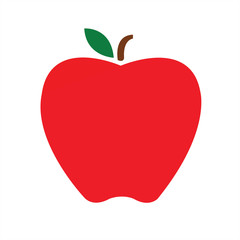 Apple vector fruit shape red icon