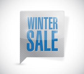 winter sale sign message illustration
