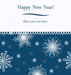New Year greeting card.
