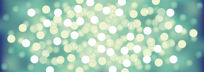 Turquoise festive lights, vector background.