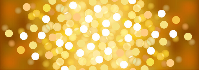 Yellow sunny festive lights. Vector  background.