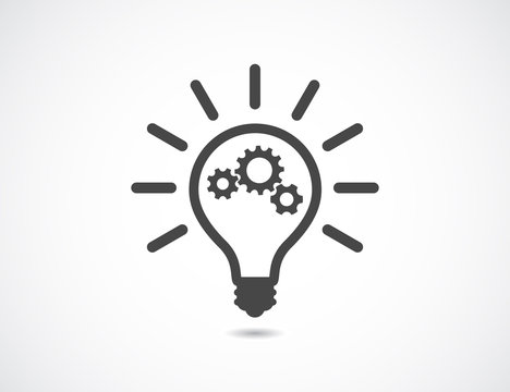 lightbulb with gears cogs teamwotk