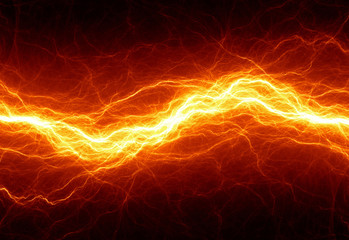 Abstract hot fire lightning