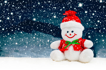 Smiling Generic Christmas Snowman Toy