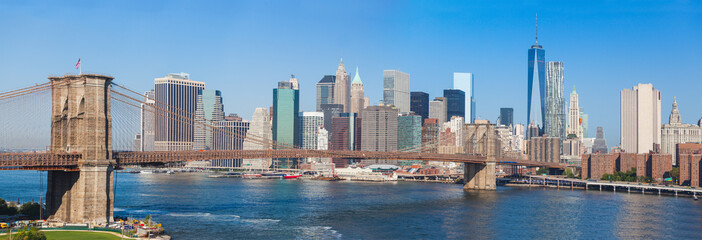 Printed kitchen splashbacks Brooklyn Bridge Brooklyn Bridge and Downtown Skyline in New York