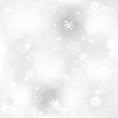 Christmas abstract background with shiny effect and snowflakes