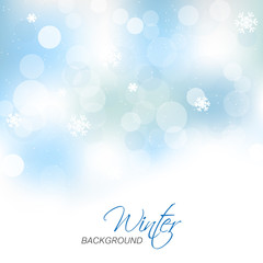 Winter vector background for christmas greeting card