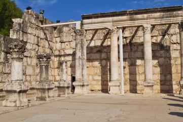 Ruins of synagogue at Capernaum