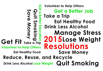Resolution for the new year 2015 new start