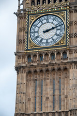 Wall Mural - Detail of the clocks on Big Ben, London