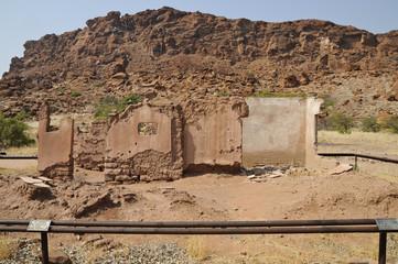 Altes Farmhaus, Felsgravuren, historisch, Twyfelfontein, Namibia