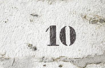 Number ten wall