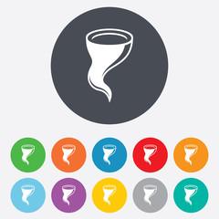 Storm sign icon. Gale hurricane symbol.
