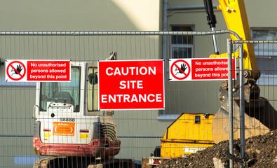 Caution - Site Entrance