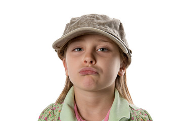 Pouting - Girl in Green Hat