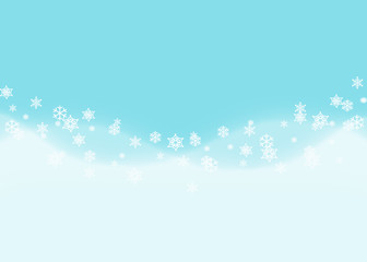 blue and white wave and snowflake abstract background