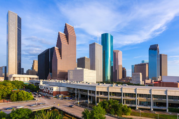 Wall Mural - Houston Skyline North view in Texas US