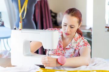 Seamstress at work