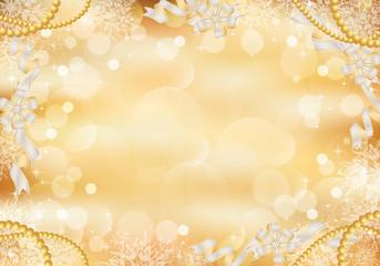 光 雪の結晶 リボン 背景