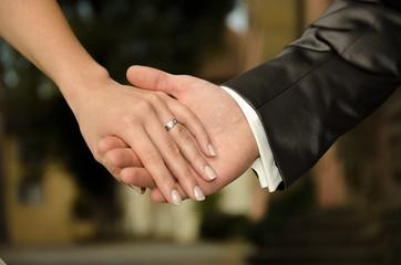 Wedding - holding hands