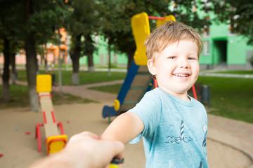 Portrait of happy beautiful little boy