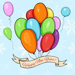 Vector Happy New Year Card.