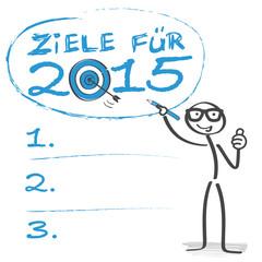 Ziele für 2015, Checkliste