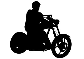 Wall Mural - Motorcyclist whit helmet