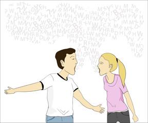 "Illustration ""Quarrel"""
