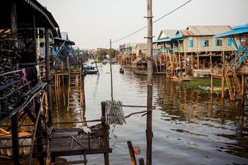 Kompong Phlok floating village