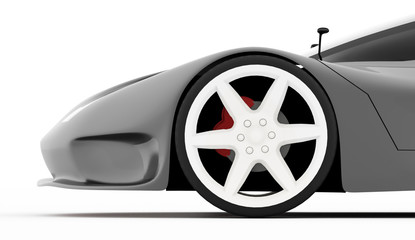 Silver sport car concept