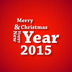 Christmas typography card, easy all editable