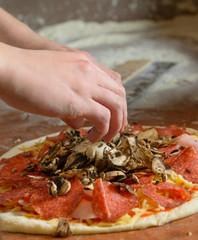 Fresh Italian pizza dough