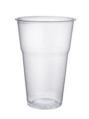 Disposable plastic pint glass