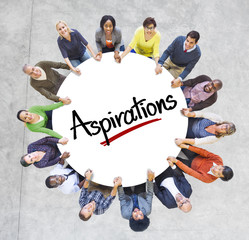 Multi-Ethnic People and Aspirations Concepts