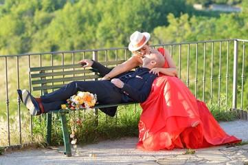 il bacio in rosso