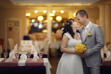 bride and groom wedding banquet restaurant