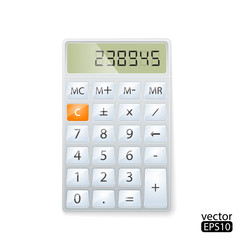 Vector illustration of realistic electronic calculator