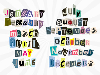 Anonymous month english