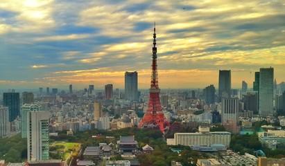 Sunset at Tokyo tower