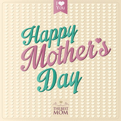 Happy Mother's Day vector calligraphy background