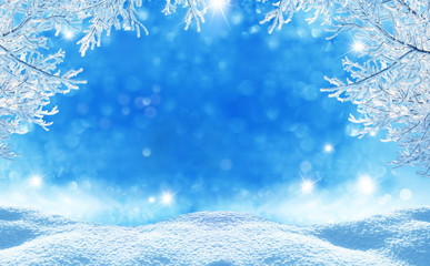 Wall Mural - winter  christmas background