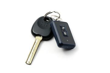 Car keys isolated on white