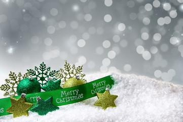 merry crhistmas card grün
